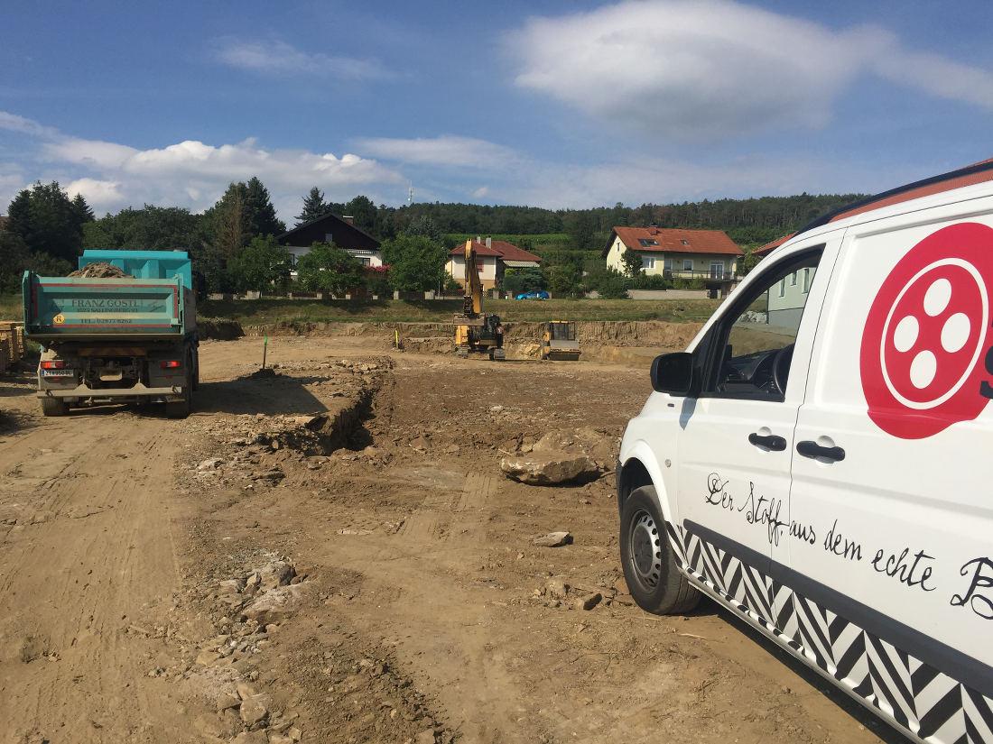 Baugrube der BrauSchneider Braurerei