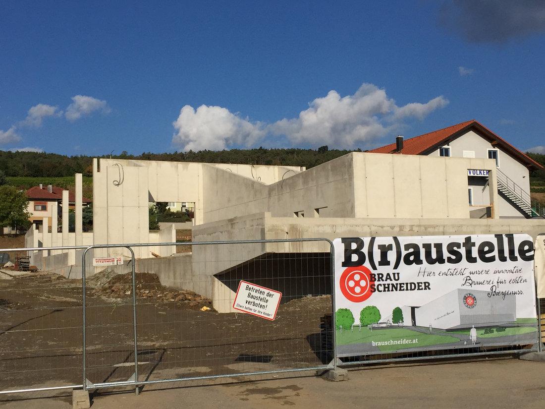 Baufortschritt der BrauSchneider Brauerei
