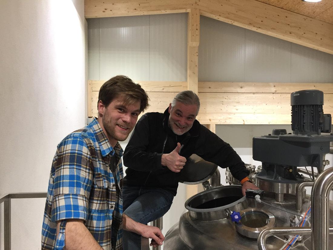 Der erste Probesud in der neuen BrauSchneider Brauerei